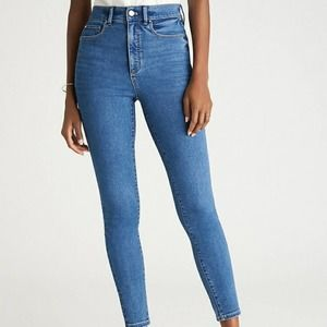 NWT Ann Taylor High Rise Soft Skinny Jeans Vintage Wash Size 2